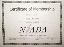 NIADA certificate Ankie Daanen